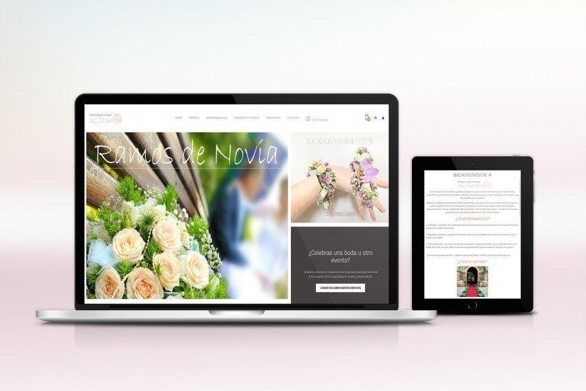 Diseño Web Velectra Design Floristería Alcázar