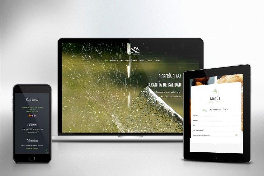 Diseño Web Velectra Design Sidrería Plaza