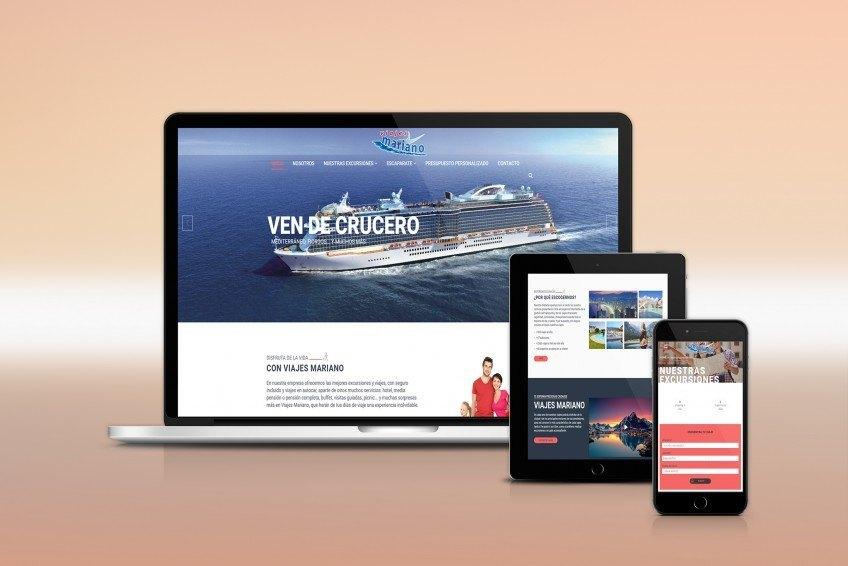 Diseño Web Velectra Design Viajes Mariano